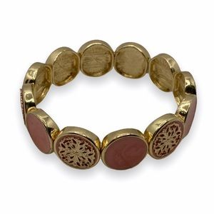 Charming Charlie Round Marble Bracelet Gold NWT